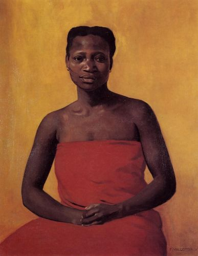 seated-black-woman-front-view