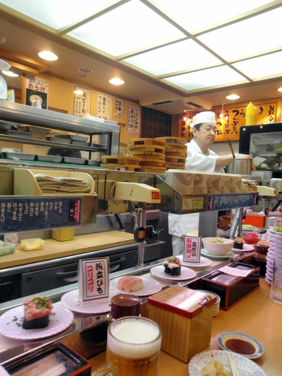 Tokyo Foodie: Conveyor Belt Sushi, Genroku Sushi, Ueno